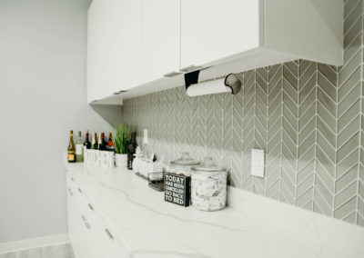 Realty Pro Escrow Break Room Backsplash